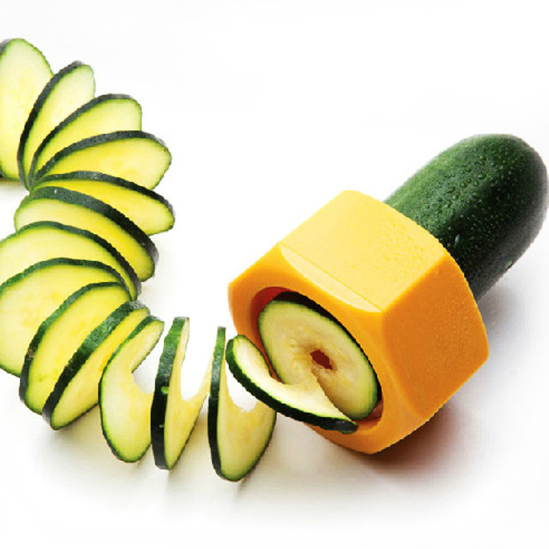 Creative Spiral Cucumber Slicer Cucumber Courgette Vegetable Peeler ABS New Cooking Gadgets Multifunction Kitchen Tool(China (Mainland))