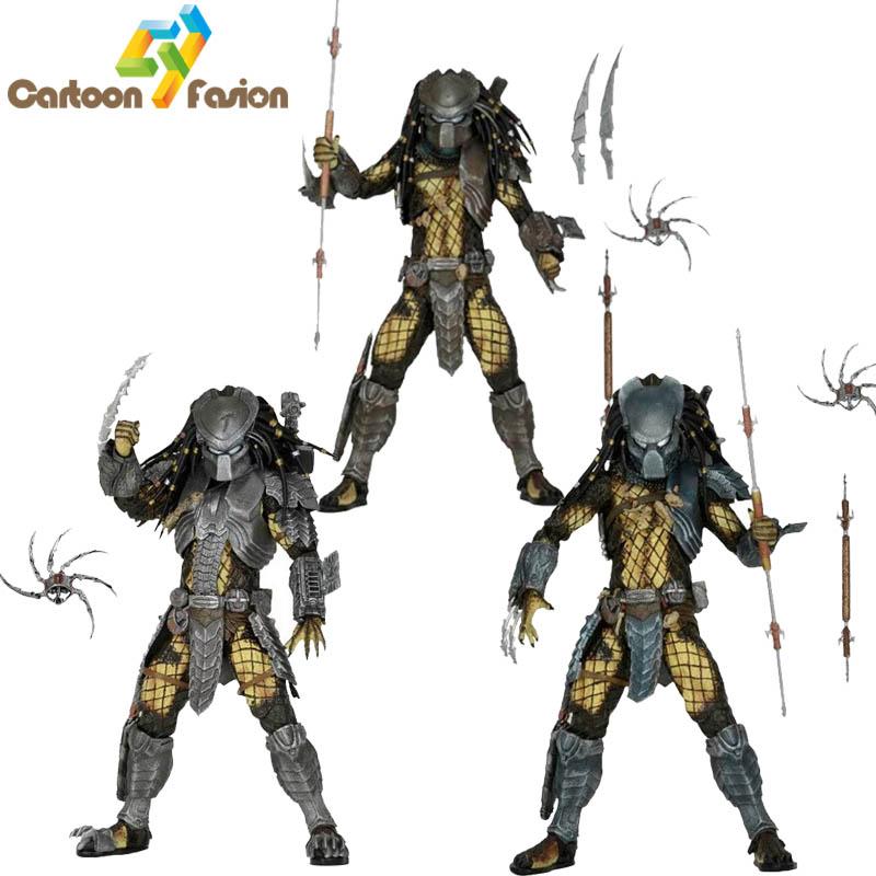 NECA Movie AVP Aliens vs Predator Series Ancient Warrior Predator Masked Scar Predator Temple Guard Predator Action Figure Toy