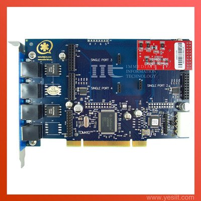 TDM410P 4 Ports with 1FXO modules  Asterisk card for VoIP IP PBX