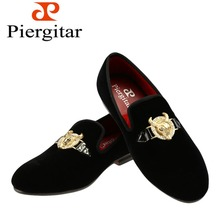 2015 New arrival Velvet men shoes with Tau buckle Smoking Slipper size 6-13 Free Shipping(China (Mainland))