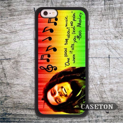 Bob Marley One Good Thing About Music Case For iPod 5 and For iPhone 7 6 6s Plus 5 5s SE 5c 4 4s Classic Protective Cover
