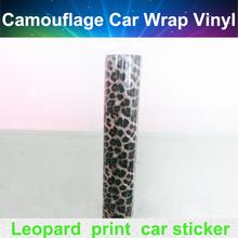 Fashion Leopard Skin Car Wrap Vinyl with Bubble Free for car body decoration 12 x60 size