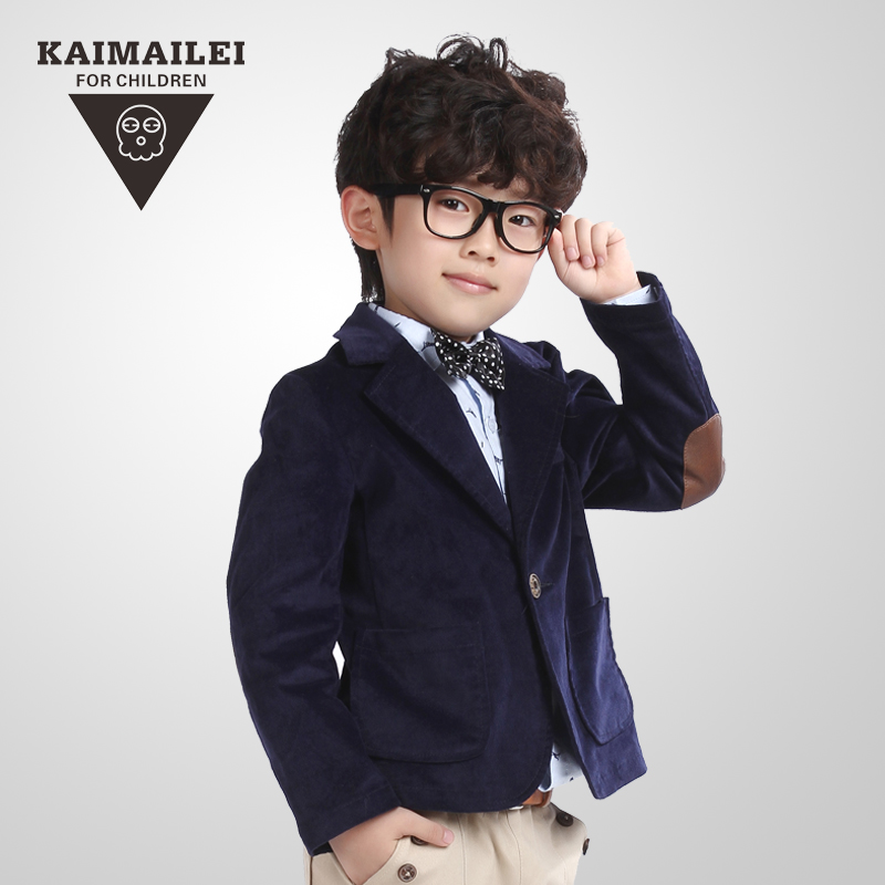free shipping 2015 new baby boys 2Y-12Y autumn casual blazers jacket child formal dress casual suit 3 colors(China (Mainland))