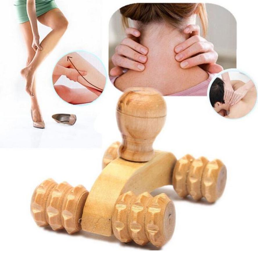 Best Quality 2016 Hot Selling New Arrival Wooden Car Roller Massage Reflexology Hand Foot Back Body Therapy Relaxing Gifts(China (Mainland))