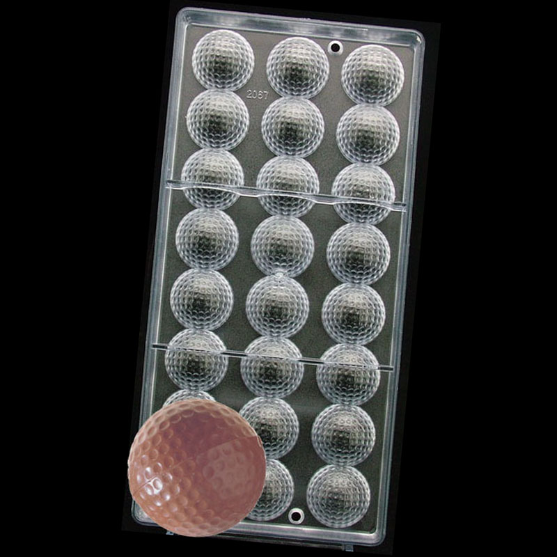 3 D DIY Hard Plastic Golf Ball sports Polycarbonate Chocolate PC Mould Mold(China (Mainland))