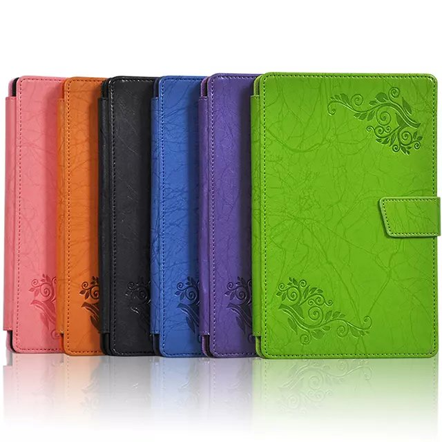 For HTC 8 9 Google Nexus 9 Tablet Floral Printed Elegant PU Leather Case Cover Fiolo
