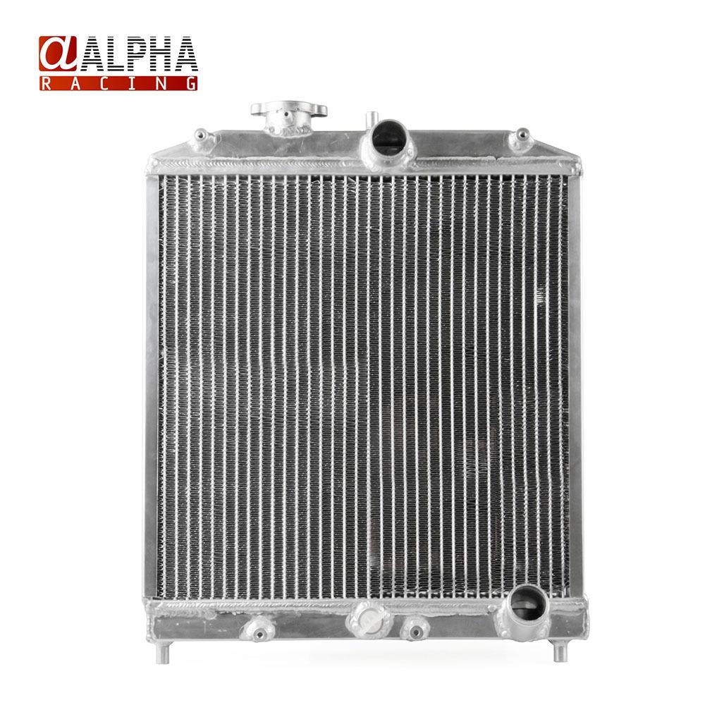 Alpha Racing- High Quality 2 row 42MM Aluminum Racing Car Auto Radiator for Honda Civic 92-00 MT EG / EK Silver Color(China (Mainland))