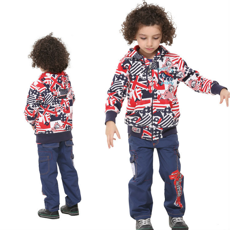Free shipping fashion Nova baby boys warm cotton coats cute boys winter spring jackets with printing chlidren sweaters A3290#<br><br>Aliexpress