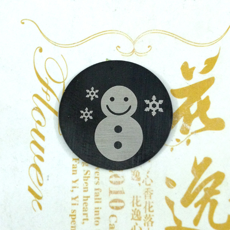 10pcs/lot 2014 New 22mm Snow Man Christmas Related Stainless Steel Plates Floating Charms For 30MM Floating Charm Lockets(China (Mainland))