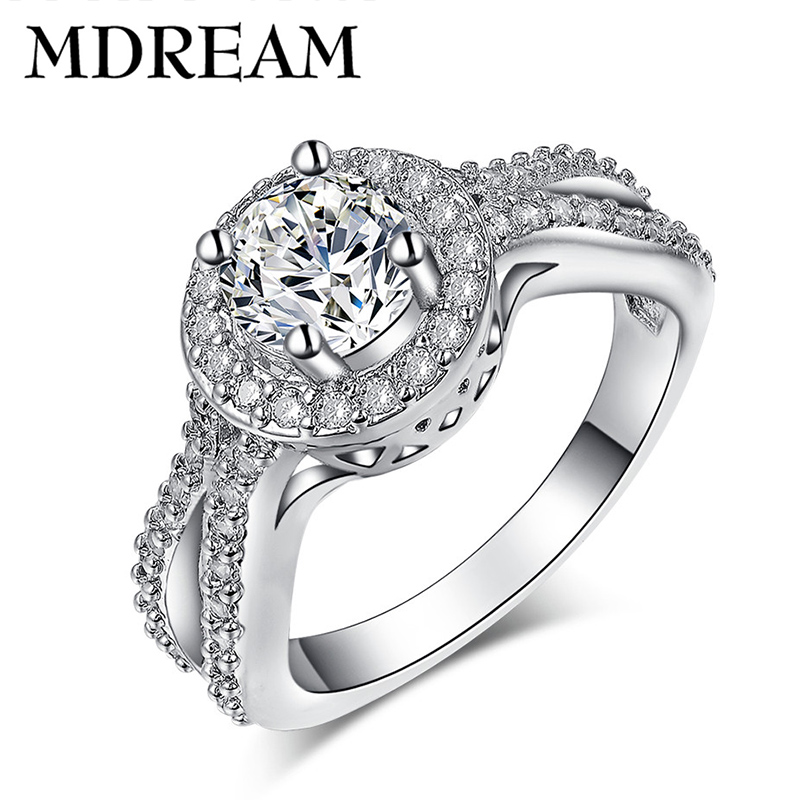 wholesale 70% silver rings for women with AAA Zircon for engagement ring trendy jewelry Size 6 7 8 LSR161 MDREAM(China (Mainland))