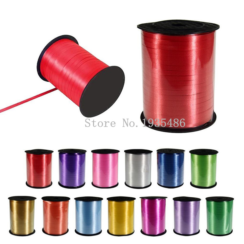 Free shipping New 500Yd Balloon ribbon Birthday Gifts Wrapping Wedding Decoration Giftwrap Curling Ribbon Balloons Accessories<br><br>Aliexpress