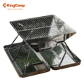KingCamp Outdoor Tableware Camping Set Portable Quick Grill BBQ Grill Small Size Easy To Carry Stainless