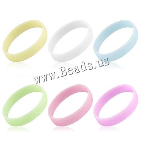 Новая мода Glow в Световой Упругий Резиновый браслет силиконовый браслеты горячие ...