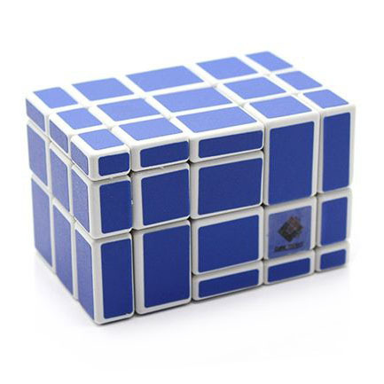 CubeTwist (CT) Mirror Cube Puzzle 5x5x3 White Color Good Learning Toy for Children(China (Mainland))