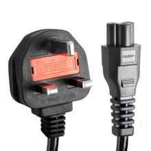 Футов C5 кловерлиф 3 зубец великобритании шнуров и кабелей для зарядным устройством для ноутбука 1.5 м