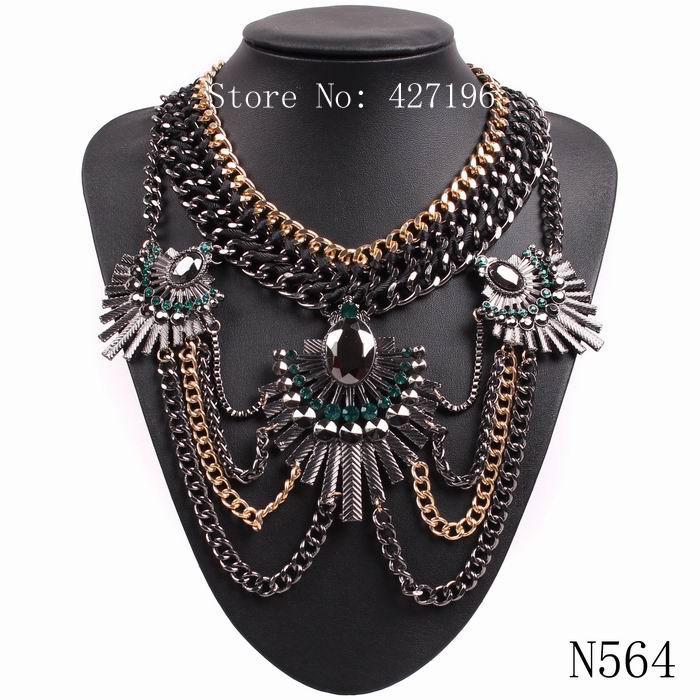 2016 producto del mercado Chino de alta calidad de la venta directa de lujo elegante rhinestone enlace collar de la joyería(China (Mainland))