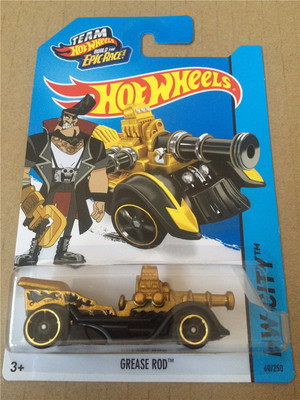 Free Shipping 2016 Hot Wheels one piece grease rod cars Models Metal Diecast Car Collection Kids Toys Vehicle(China (Mainland))