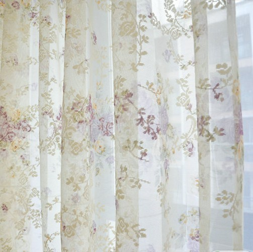 Rustic clusters lace decoration window screening bedroom curtain(China (Mainland))