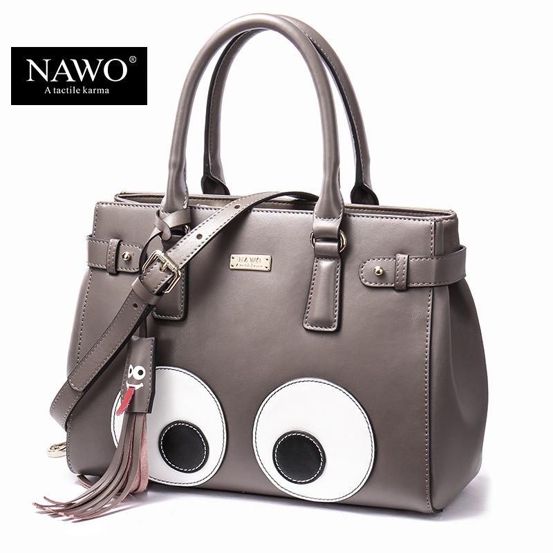 NAWO 2016 New Korean Fashion Handbags Big Eyes Shoulder Bag Messenger Bag Handbag Cute Cartoon Bags Leather Women Bags Tassel(China (Mainland))