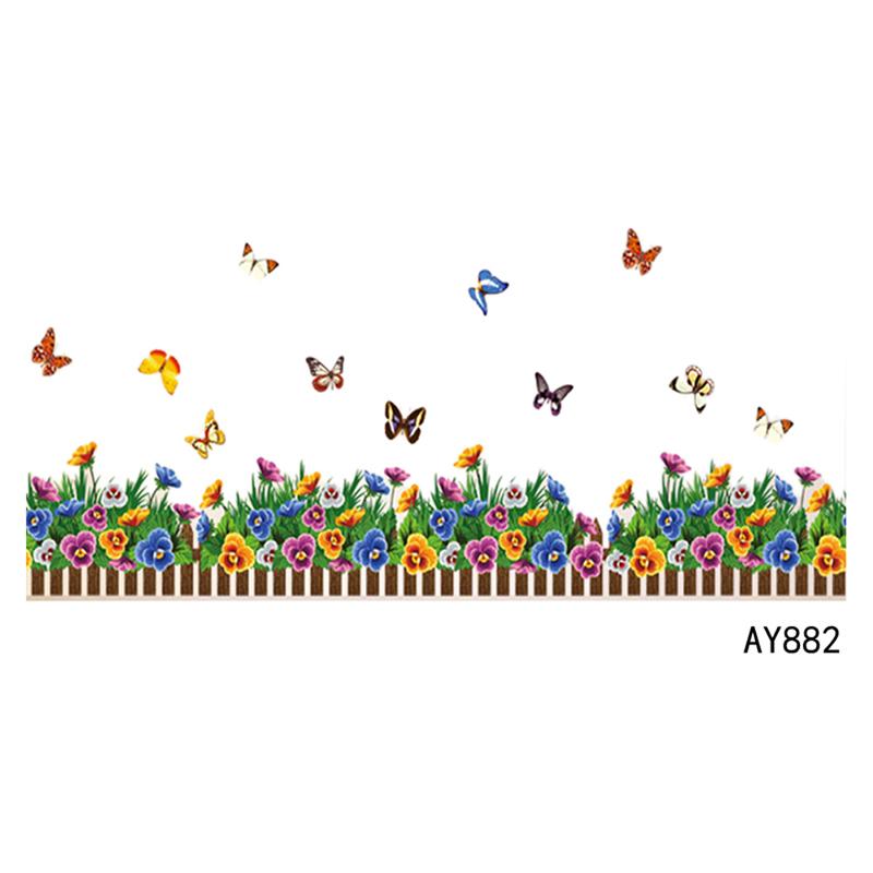 Buy new kindergarten vinyl skirting line home decor decal mural wall sticker Home decor line wall stickers