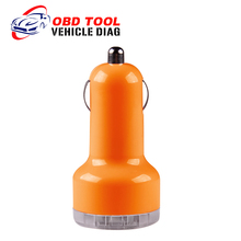 2016 Auto Universal Dual USB Car Charger For iPad IPhone 5V 2.1A Mini Adapter Orange Car Accessories  Free Shipping(China (Mainland))