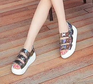 2015 Summer explosion models fashion casual female slope with platform sandals tide women comfort fish head muffin sandals(China (Mainland))