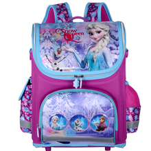 New arrivel snow queen  School Bag Orthopedic Children School Bag cars School Backpack Mochila Infantil for  girls(China (Mainland))