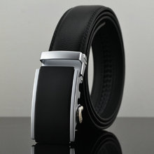 Belt 2015 New Designer Automatic Buckle Cowhide Leather belt men 100cm-130cm Luxury belts for men(China (Mainland))