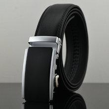 Ceinture 2015 New Designer automatique boucle vachette ceinture en cuir hommes 100 cm - 130 cm luxe ceintures pour hommes(China (Mainland))
