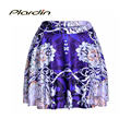 New Arrival Fashion sexy Vintage Women s Skirt Purple Vines Digital print Elegant Stretch High Waist