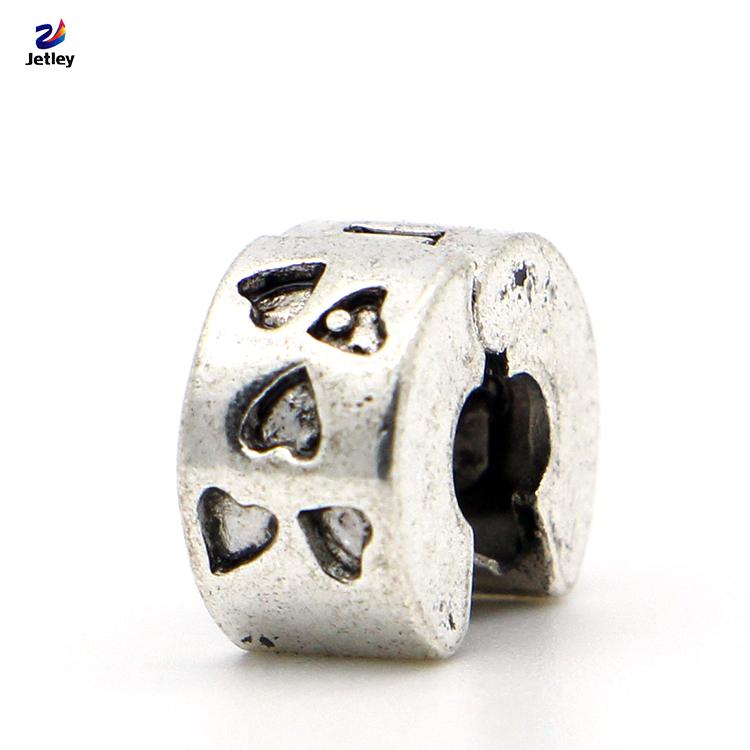 1pc Fashion Jewelry 925 Clips Locks Beads Alloy Charm European Mini Love Heart Stopper Bead Fit Pandora Bracelets & Bangles(China (Mainland))