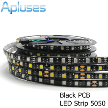 Buy 5m/Lot 5050 Black PCB LED Strip 12V Flexible Decoration Lighting IP65 Waterproof LED Tape RGB/White/Warm White/Blue/Green/Red for $3.89 in AliExpress store
