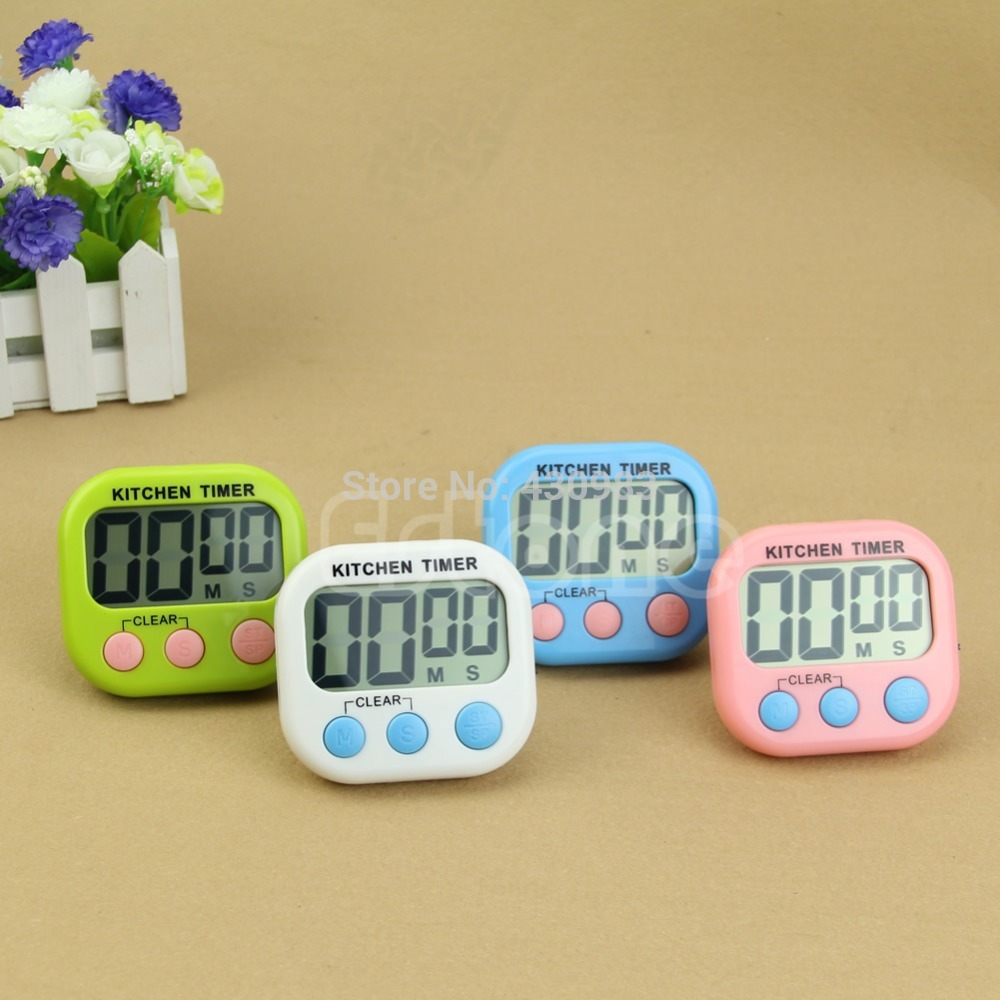 1 PC Kitchen Large LCD Digital Cooking Timer Count-Down Up Clock Loud Alarm Magnetic(China (Mainland))