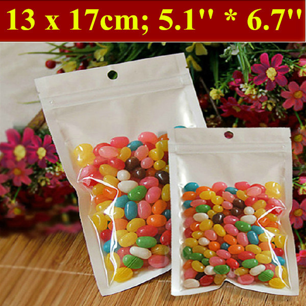 200pcs/lot 13x17cm (5.1'' * 6.7'') Thickness 160mic Laminated Food Bag,Clear Pearl Plastic Bag,Pearl Film Plastic Bag,Polybags(China (Mainland))