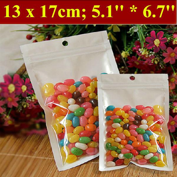 200pcs/lot 13x17cm (5.1'' * 6.7'') Thickness 160mic Laminated Food Bag,Clear Pearl Plastic Bag,Pearl Film Plastic Bag,Polybags(China (Mainland))