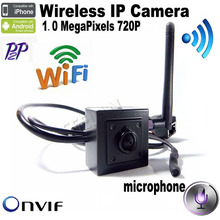 Buy 720P H.264 Onvif mini ip camera wifi HD Wifi IP Camera Wireless camera P2P Plug Play Camera 3.7mm lens support microphone for $37.20 in AliExpress store
