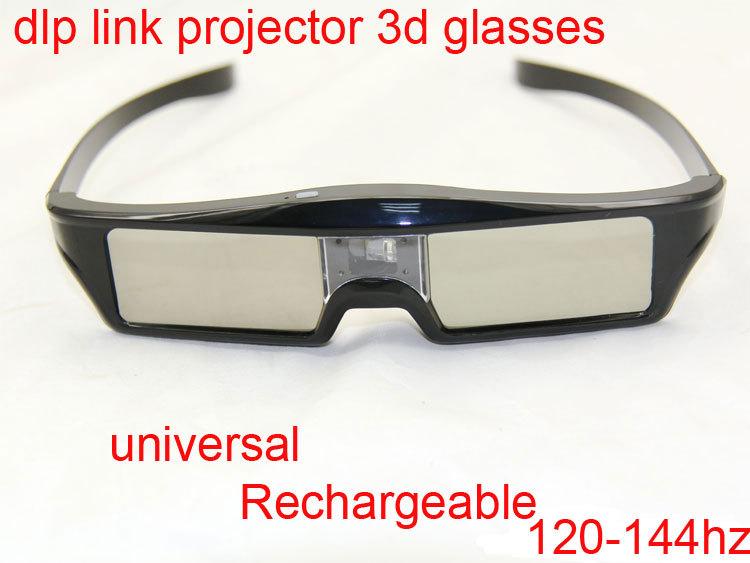 3D Active Shutter Glasses DLP-LINK DLP LINK 3D dlo glasses for Optoma Sharp LG Acer BenQ w1070 Projectors 3D glasses dlp link(China (Mainland))