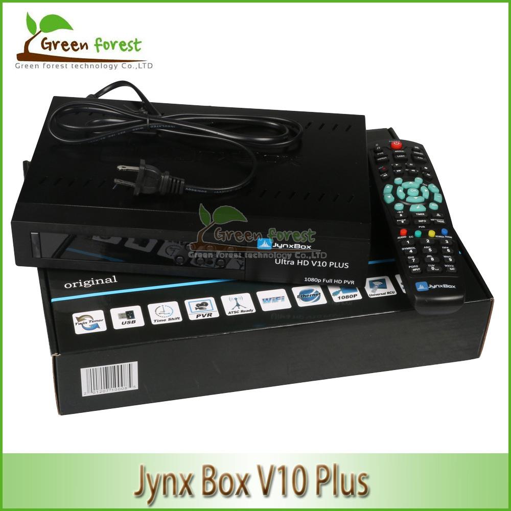 For North America Jynxbox V10 plus Ultra HD Satellite TV Receiver Jynxbox v10+ 1080P W/JB200 HD Module Support ATSC Tuner(China (Mainland))