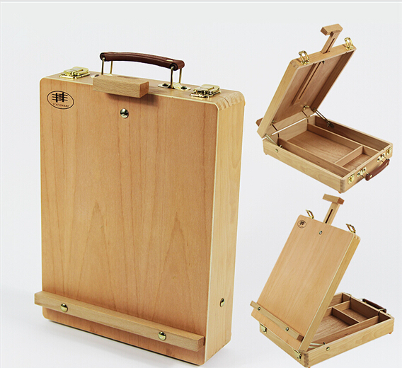 Painting Desktop Box Easel Painting Hardware Accessories Painting Easel Suitcase Art Supplies Artist Painting Easel(China (Mainland))