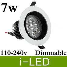 Buy 50pcs/lot Free shipping 7W LED Ceiling recessed spot downlight AC85-265v warm white / white CE&ROHS. for $385.00 in AliExpress store