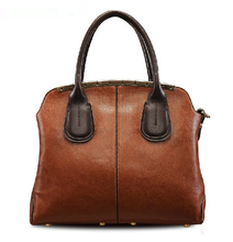 Hot 2015 Women Messenger Bags Fashion Shoulder Bag Vintage Women Leather Handbag Genuine Leather Tote Bolsas Crossbody Bag