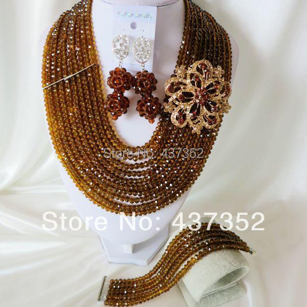 Здесь можно купить   Fashion Nigerian African Wedding Beads Jewelry Set Boffern Necklaces Bracelet Earrings Jewelry Set CPS-889  Ювелирные изделия и часы