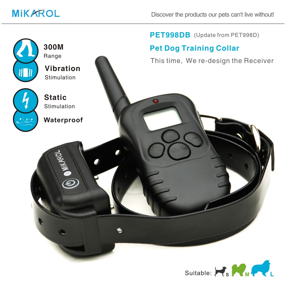 Mikarol Brand Dog Training Aids Remote Electric Collar for Big Dogs 300 Meter Pet Dog Waterproof Training Dog Control(China (Mainland))