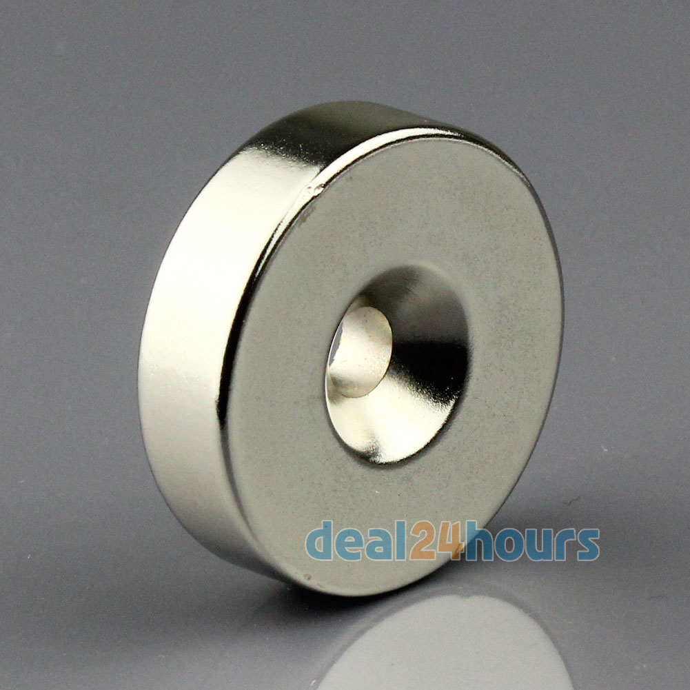 1PC N50 Super Strong Round Neodymium Countersunk Ring Magnets 35mm x 10mm Hole: 6mm Rare Earth Free Shipping<br><br>Aliexpress