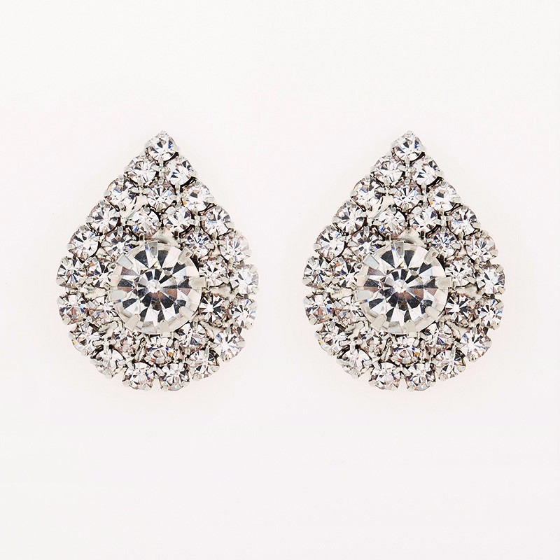 2018 Long Fashion Jewelry Drop Wedding Earrings For Brides Popular Rhinestone Dress Baldpates Natural Stone Women Earings E016