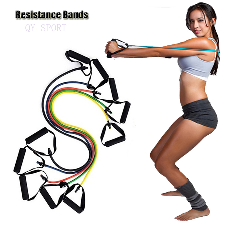 Pull Rope Elastic Rope Set Multifunctional Training Equipment Rubber Band Belt Man Woman Gym Equipment Resistance Bands for Yoga(China (Mainland))