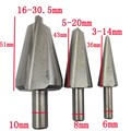 3PC Umbrella Chamfer Drill Step Drill Bit Steel PV Wooden Thin Iron Plate Hole Cutter Chamfering