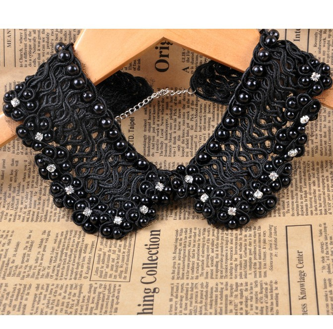 No minorder fashion vintage top quality handmade pearls collar necklace false collar Necklaces & Pendants necklaces For Women(China (Mainland))