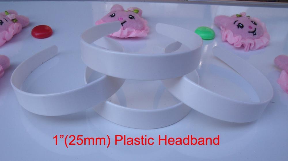 "20 pcs 1"" headband plastic wholesale girl plastic headband bulk 6 sizes to choose: 3/8"", 5/8"", 6/8"",1"", 1-1/2"", 48mm(China (Mainland))"