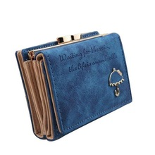 Hot Sales Card Wallet Best Leather Button Clutch Purse Short Handbag Bag For Lady Business ID Credit Card Holder Women Clutches(China (Mainland))